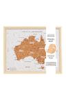Splosh Travel Board Australia Desk Map
