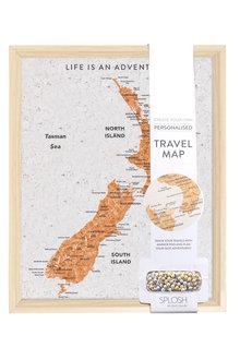 Splosh Travel Board New Zealand Desk Map - 271098