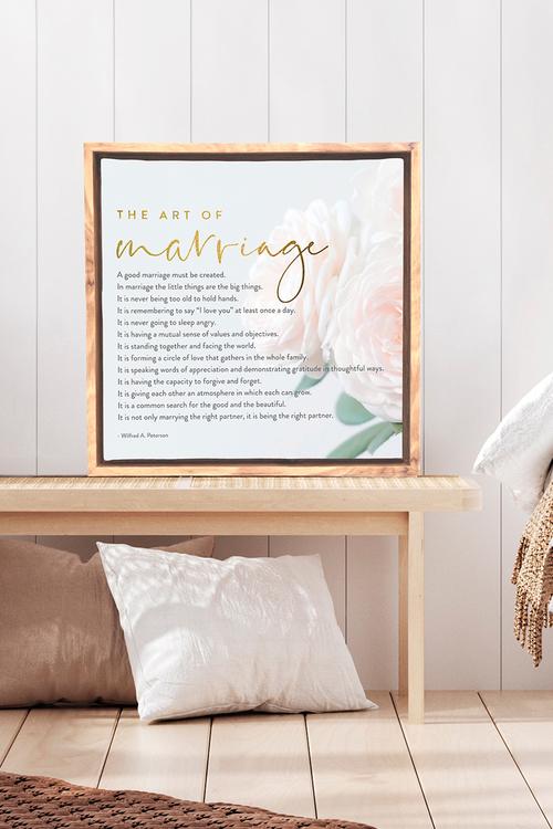 Splosh Wedding Marriage Framed Canvas