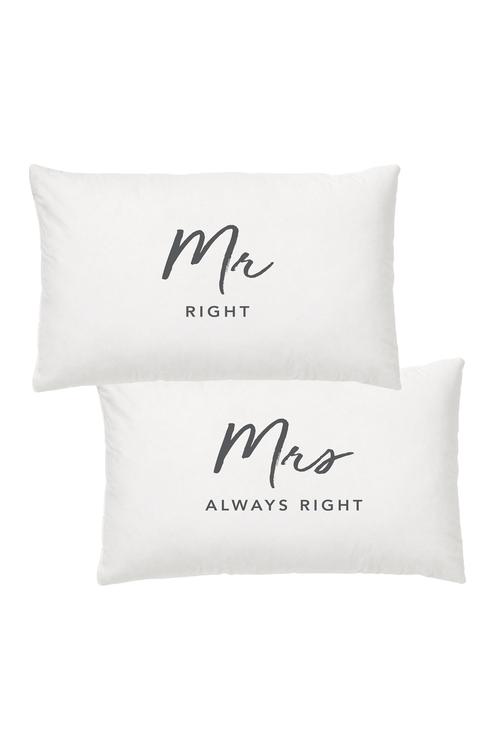 Splosh Wedding Mr and Mrs Pillowcase Set