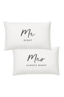 Splosh Wedding Mr and Mrs Pillowcase Set - 271104