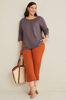 Sara Linen Crop Pant - 271123