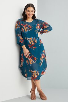 Sara Long Sleeve Midi Dress - 271125