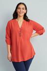 Sara Button Detail Shirt