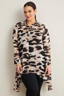 Sara Hi-Low Hem Shirt - 271129