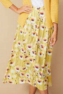 Capture Button Front Midi Skirt - 271133