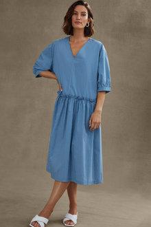 Grace Hill Poplin Striped Dress - 271143