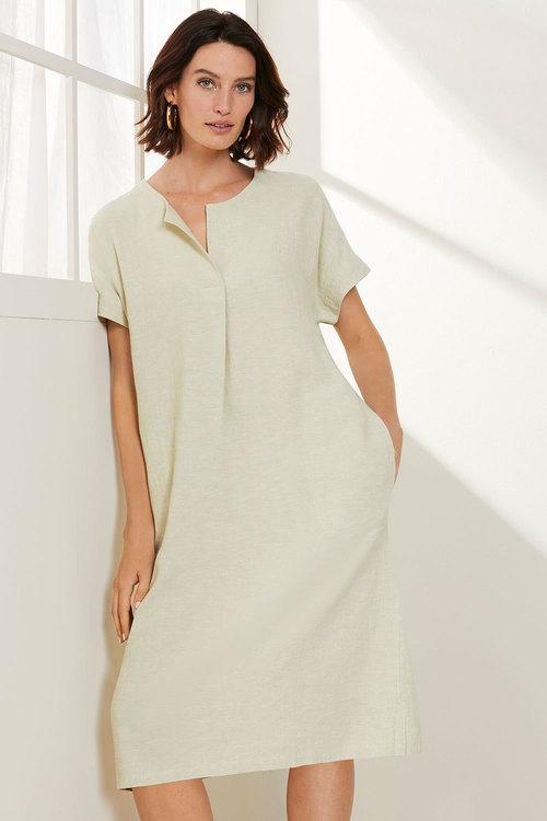 Grace Hill Linen Blend Shift Dress