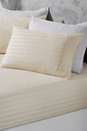 Royal Comfort Damask Stripe Cotton Blend 3-Piece Sheet Set