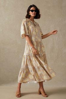 Grace Hill Poplin Tiered Dress - 271298