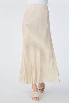 Grace Hill Linen Blend Pleated Skirt - 271301