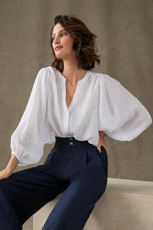 Grace Hill Blouson Sleeve Shirt - 271335