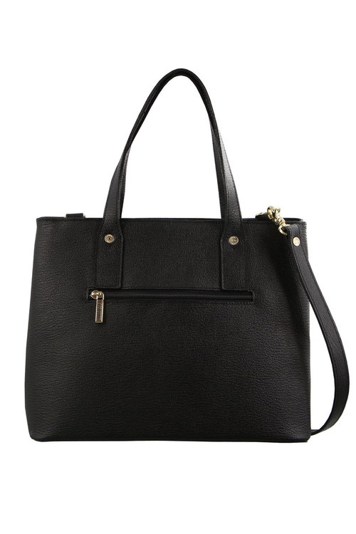 Morrissey Structured Leather Tote Bag