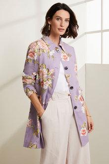 Grace Hill Linen Blend Coat - 271397