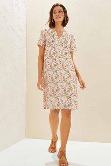 Capture Linen Blend Shift Dress - 271402