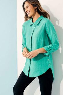 Capture Linen Blnd Button Detail Shirt - 271458