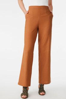 Capture Linen Blend Wide Leg Pant - 271461