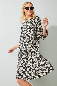 Emerge 3/4 Sleeve Tier Dress - 271505