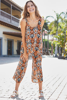 European Collection Printed Pants - 271538