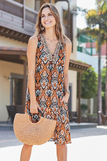 European Collection Printed Dress - 271544
