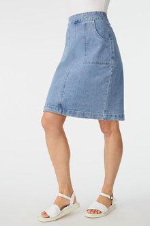 Capture Patch Pocket Denim Skirt - 271559