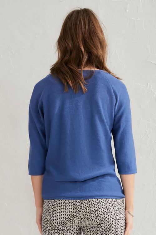 Capture Linen Blend V-Neck Sweater
