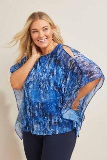 Sara Chiffon Overlay Top - 271595
