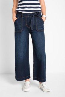 Euro Edit High Waist Cullotte Jeans - 271609