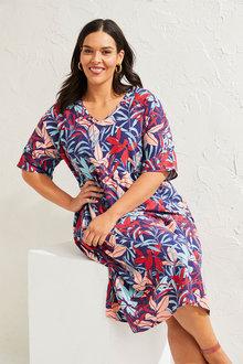 Sara Linen Blend Tiered Dress - 271628