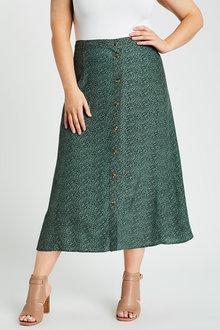 Sara Button Through Skirt - 271648
