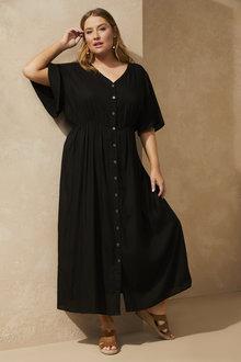 Sara Button Front Maxi Dress - 271652