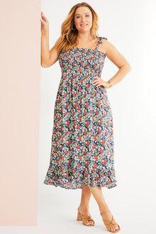 Sara Shirred Maxi Dress - 271653