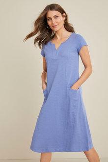 Capture Cotton Slub Pocket Dress - 271704