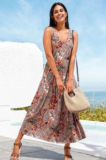 Urban Printed Tiered Maxi Dress - 271804