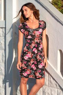 Urban Cap Sleeve Print Dress - 271814