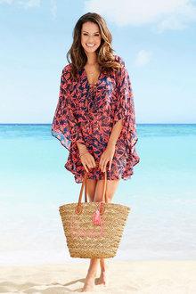 Euro Edit Printed Beach Kaftan Dress - 271868