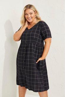 Sara Linen Blend Button Through Dress - 271881