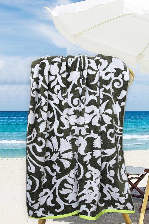 Ramesses Jacquard Velour Cotton Terry Toweling Beach Towel