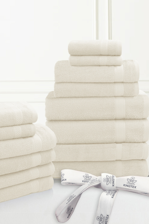 Kingtex 20 Piece 100% Cotton Bathtowel Set