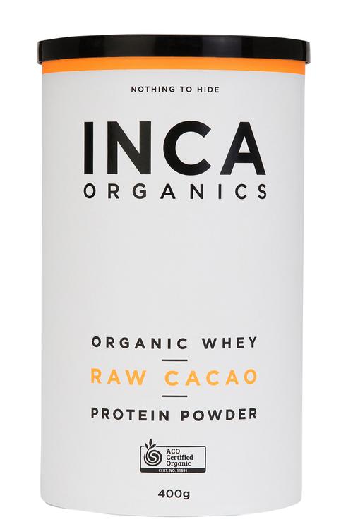 Inca Organics Organic Whey Protein Powder-Raw Cacao-400g