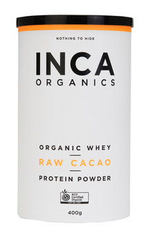 Inca Organics Organic Whey Protein Powder-Raw Cacao-400g - 272195