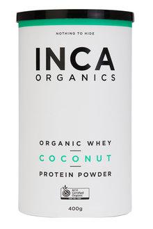 Inca Organics Organic Whey Protein Powder-Coconut-400g - 272196