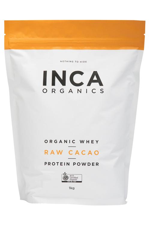 Inca Organics Organic Whey Protein Powder-Raw Cacao-1kg