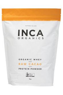 Inca Organics Organic Whey Protein Powder-Raw Cacao-1kg - 272198