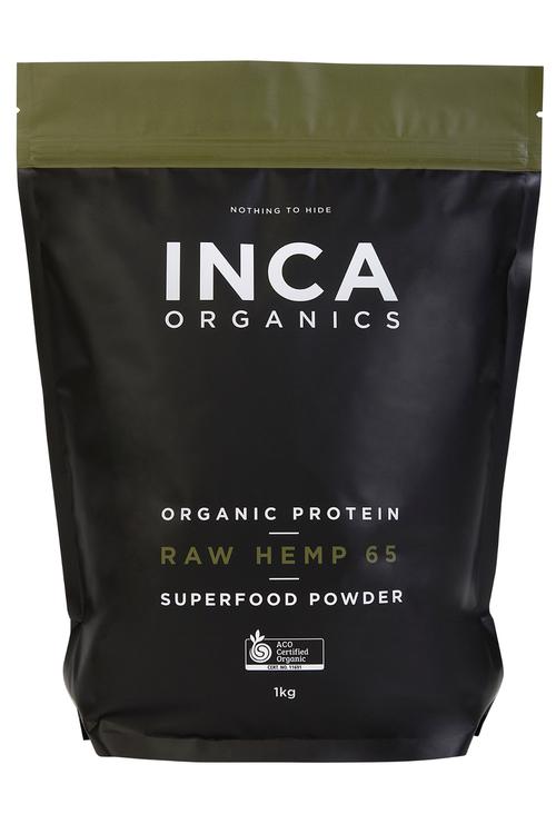 Inca Organics Organic Protein Raw Hemp 65 Superfood Powder-1kg