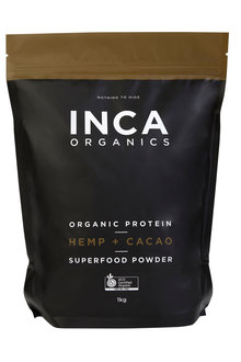 Inca Organics Organic Protein Hemp + Cacao Superfood Powder-1kg - 272203