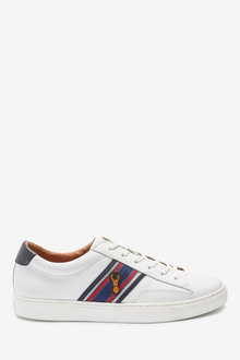 Next Leather Stag Trainers - 272247