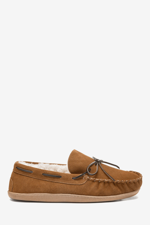 Next Signature Suede Lace Moccasin Slippers