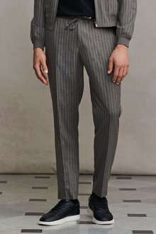 Next Striped Formal Joggers - 272290