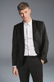 Next Textured Suit: Trousers-Tailored Fit - 272354